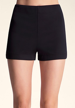 SOLID HIGH WAIST SHORTS at bebe