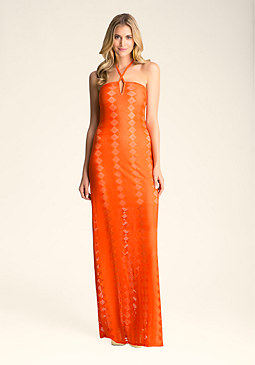 LILLY HALTER MAXI DRESS at bebe