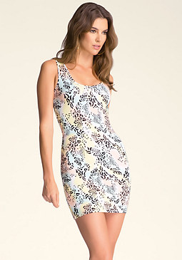 bebe Leopard Swoon Tank Dress