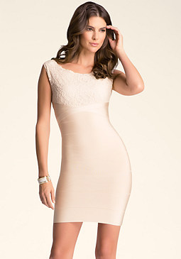 bebe Lace Bandage Dress