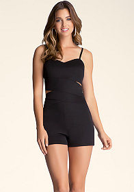 bebe Cut Out Romper