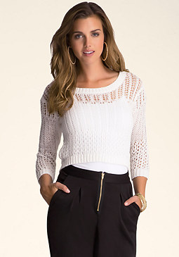 Yarn Crop Sweater at bebe
