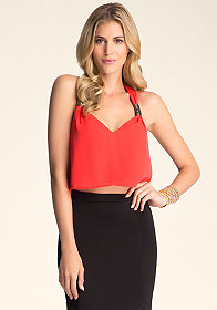 Knot Strap Crop Cami at bebe