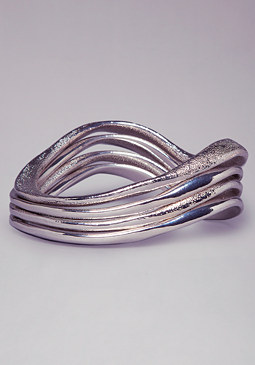 bebe Wavy Textured Bangle Set