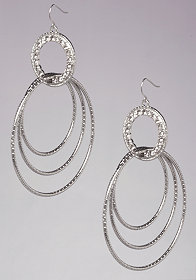 bebe Multi-Circle Earrings