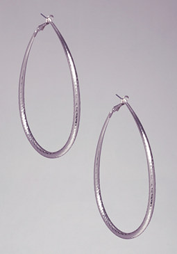 bebe Textured Oval Hoops��
