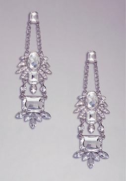 bebe Floral Crystal Earrings