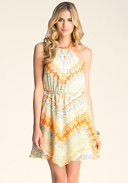 Print Halter Dress at bebe
