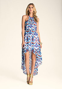 Halter Hi-Lo Maxi Dress at bebe