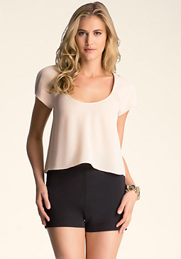 bebe Crop Shell Top