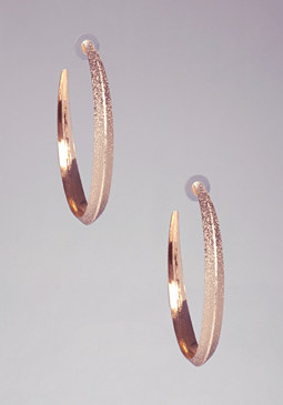 bebe Diamond Oversized Hoops