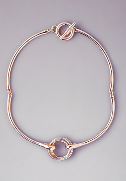 bebe Mixed Metal Knot Necklace