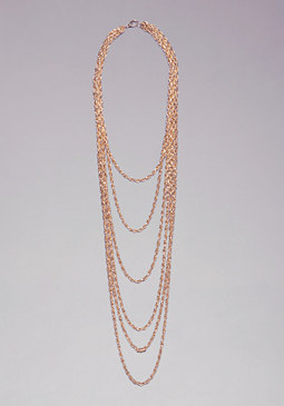 bebe Rope Chain Long Necklace