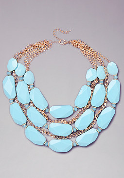bebe Stone Statement Necklace
