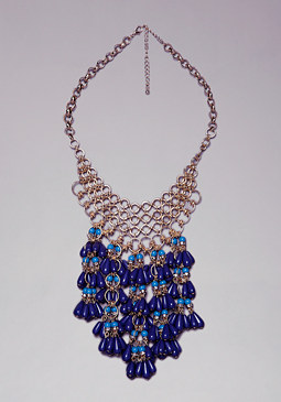 bebe Beaded Cluster Necklace