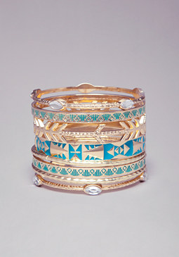 bebe Tribal Inspired Bangle Set