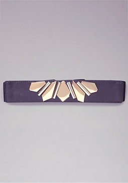 bebe Mixed Metal Stretch Belt