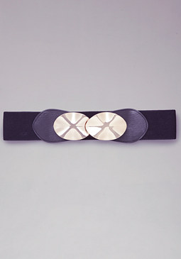 bebe Wavy Metal Stretch Belt