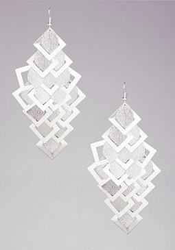 bebe Textured Geo Scarf Earrings