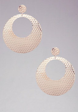 Textured Disc Earrings at bebe