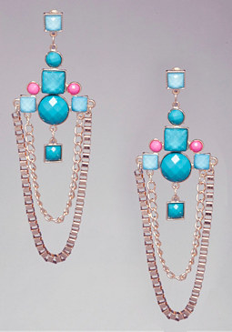 bebe Box Chain Earrings