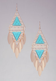 Triangle & Stone Earrings at bebe