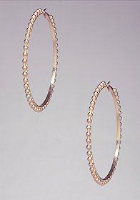 Ball & Chain Hoops at bebe