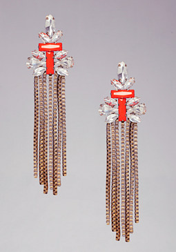 Chain Statement Earrings at bebe