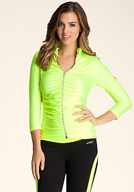 bebe Sport Ruched Jacket at bebe