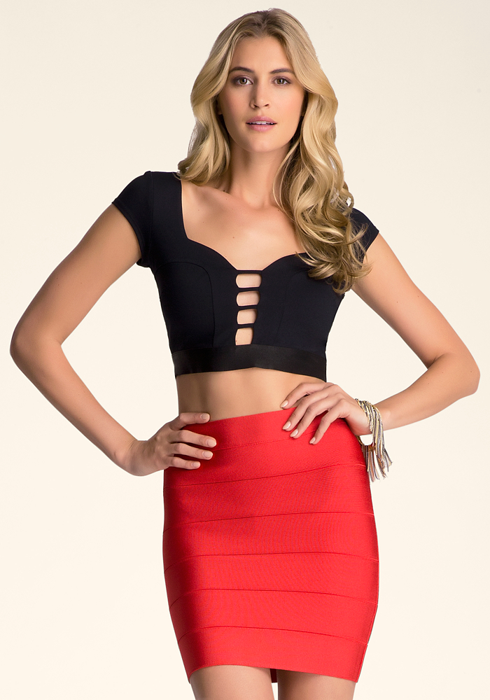 Cap Sleeve Cage Crop Top