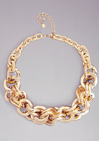 bebe Oversized Chain Necklace