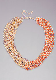 bebe Chain Link Necklace