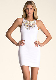 bebe Sunburst Racerback Dress