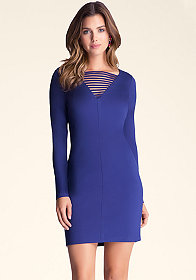 bebe V Neck Strappy Dress