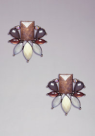 STONE FACETED EARRINGS at bebe