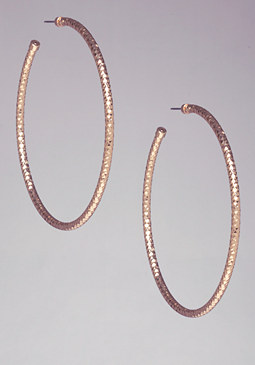 SPARKLING TEXTURED HOOPS at bebe