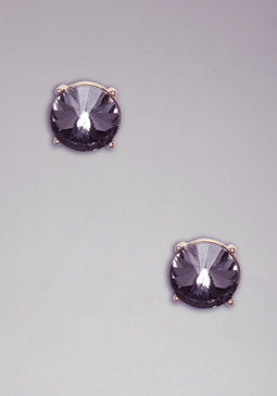 bebe Faceted Stone Stud