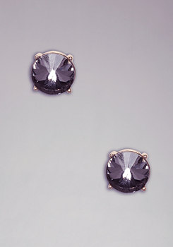 Faceted Stone Studs at bebe