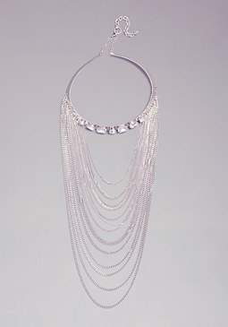 DRAPED COLLAR NECKLACE at bebe
