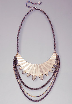bebe Pleated Tribal Necklace