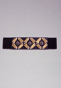 TRIBAL STRCH BELT at bebe