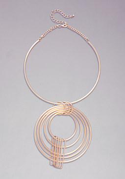 Multi-Circle Necklace at bebe