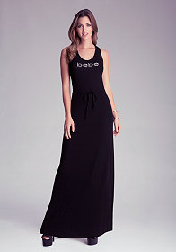 bebe Crossback Maxi Dress