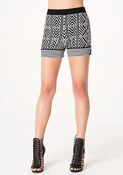 bebe Tribal Sweater Shorts