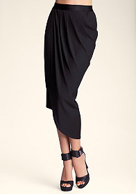 bebe Side Draped Skirt