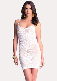 bebe Crochet Tank Dress