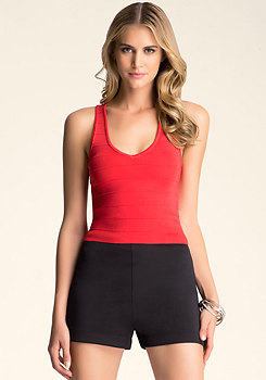 Criss Cross Halter Sweater at bebe