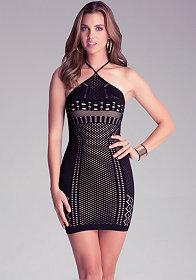 bebe Elysia Double Layer Dress