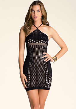 bebe Elysia Double Layer Dress