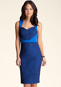 bebe Auriella Bonded Dress